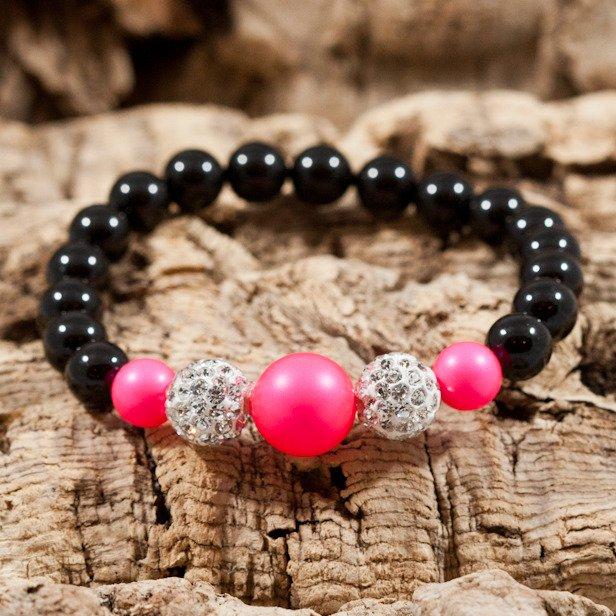 neon pink sparkle bracelet