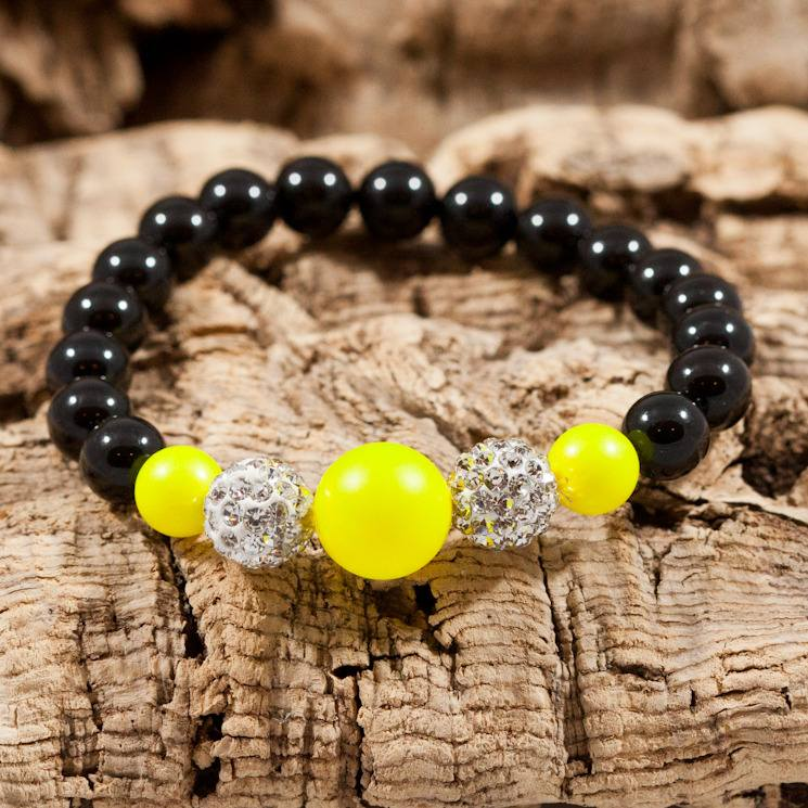 neon yellow sparkle bracelet