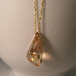 <!--015-->Swarovski Golden Drop Pendant