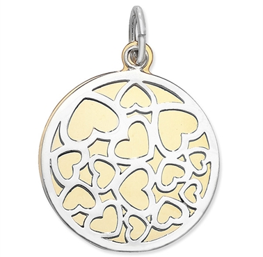 <!--009--> Sterling silver Disc Pendant