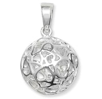 <!--011--> Sterling Silver Ball Pendant