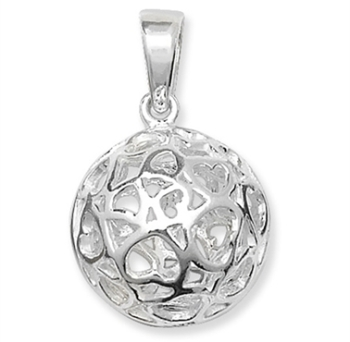 Sterling Silver Ball Pendant