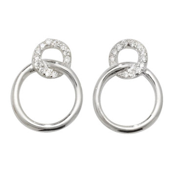 Sterling Silver Ring Drop Earrings