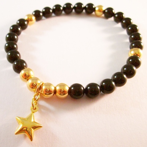 <!--003-->Swarovski Mystic Black Star Bracelet