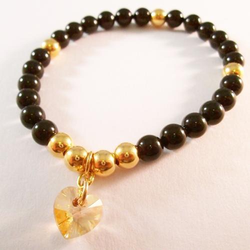 <!--004-->Swarovski Mystic Black Crystal Bracelet