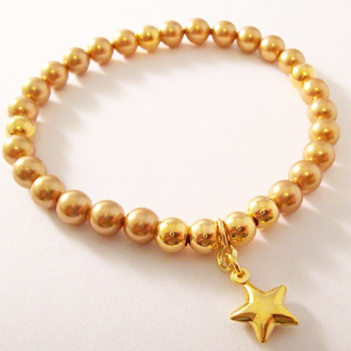 <!--007-->Swarovski Gold Star Bracelet