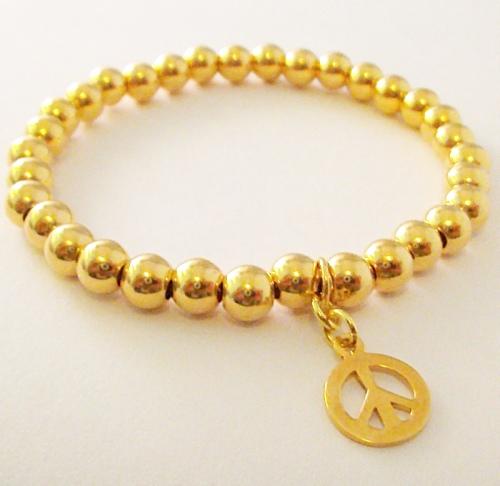 <!--010-->Vermeil Gold Peace Bracelet