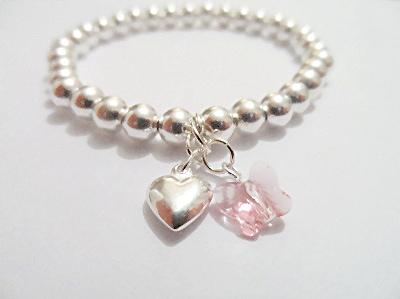 <!--008-->Pink Flutterby Bracelet