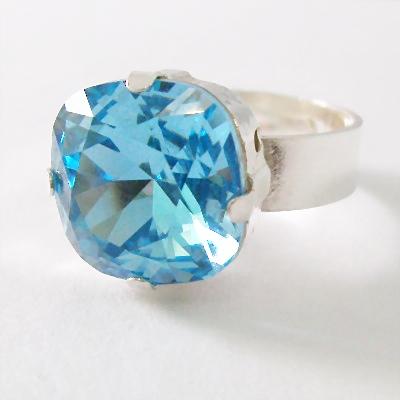 Swarovski Sparkle Ring Aquamarine