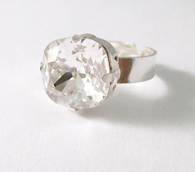 Swarovski Sparkle Ring Clear Crystal