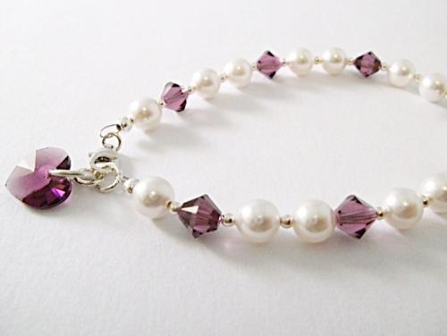 <!--004-->Crystal Month Bracelet (February)