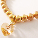 Swarovski Gold Crystal Heart Bracelet