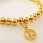 Vermeil Gold Peace Bracelet
