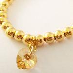 Vermeil Gold Crystal heart Bracelet