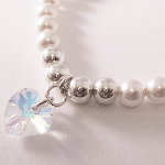 Swarovski White & Silver Heart Bracelet