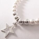 <!--013-->Swarovski Silver &amp; White Star Bracelet