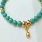 Swarovski Jade & Vermeil Drop Bracelet
