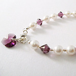 <!--004-->Crystal Month Bracelet (February)