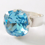 Swarovski Sparkle Ring Aquamarine