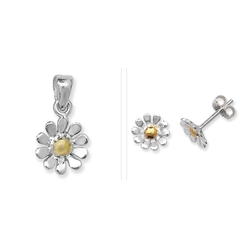 <!--004-->Daisy Gold Touch Jewellery Set