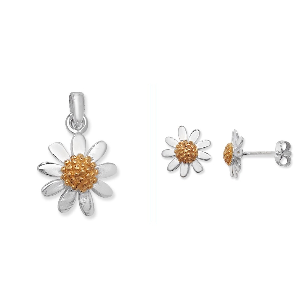 <!--007-->Daisy Cluster Jewellery Set