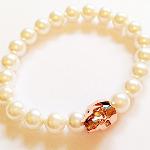 Rose Gold Swarovski Crystal Skull Bracelet