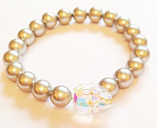 <!--002-->Swarovski Crystal Skull Bracelet