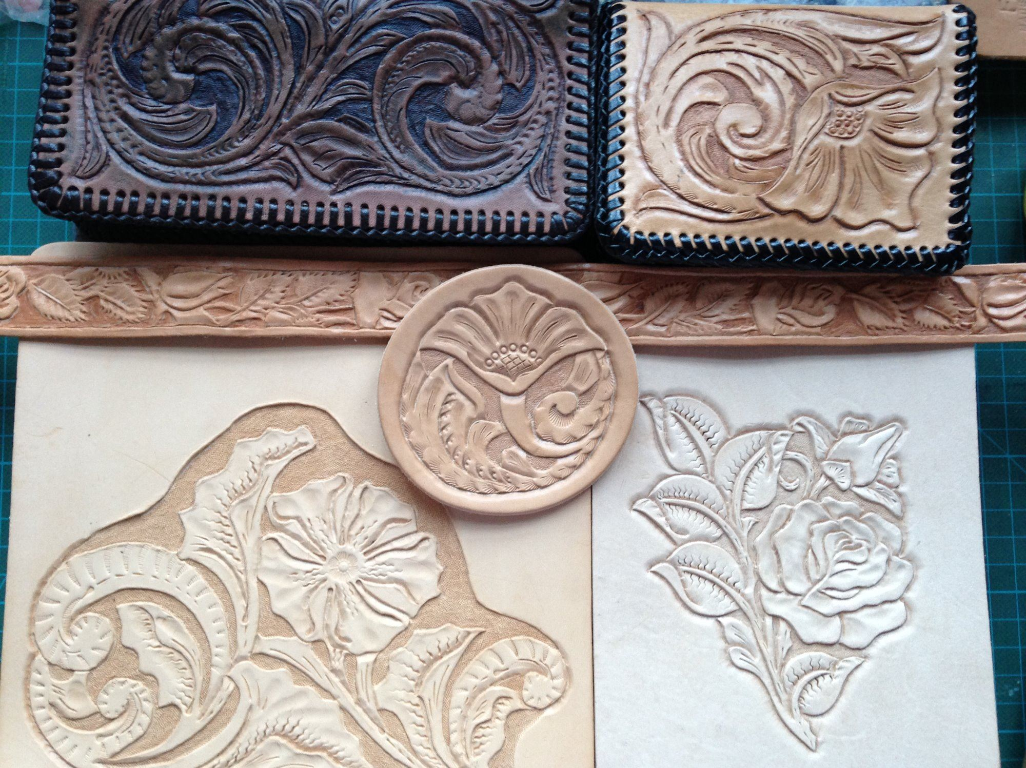 Learning to carve and tool leather