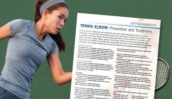 tennis - tennis elbow advice handout pic