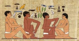 reflexology egypt wall painting image
