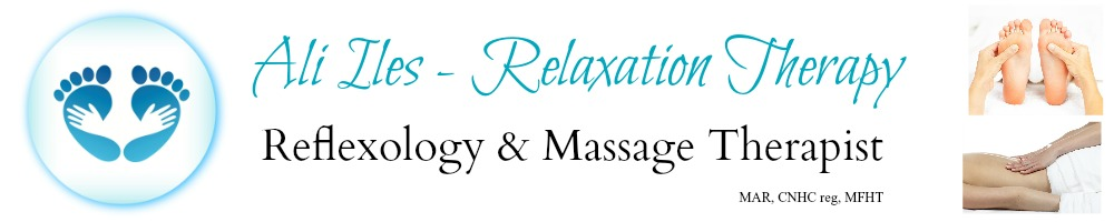 Ali Iles Reflexology & Massage Therapist, site logo.