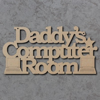 Daddys Computer Room Sign