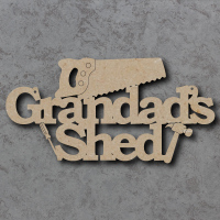 Grandads Shed with Tools Sign