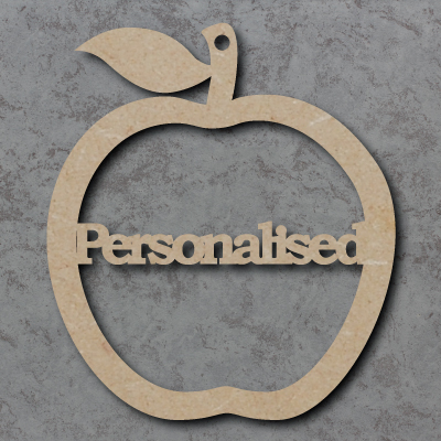 Personalised Teacher Apple Craft Shapes