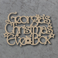 Personalised Christmas Eve Box Topper Sign