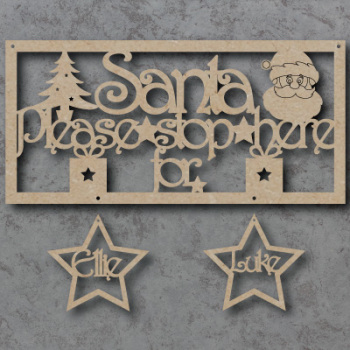 Santa please stop here for sign