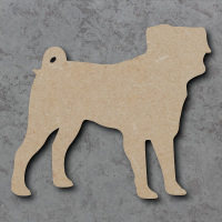 Dog 11 - (Pug) Blank Craft Shapes