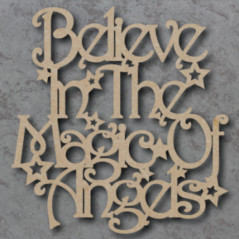Believe in the Magic of Angels Sign