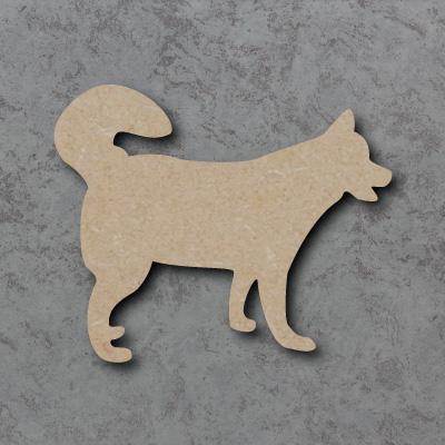 Dog 13 - (Husky curly tail) Craft Shapes