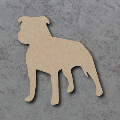 Dog 14 - (staffordshire bull terrier) Craft Shapes