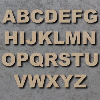 Arial Black Font Single mdf Wooden Letters  **PRICE PER LETTER**