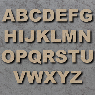 Arial Black Font Single mdf Letters