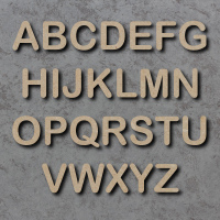 Arial Rounded Font Single mdf Wooden Letters  **PRICE PER LETTER**
