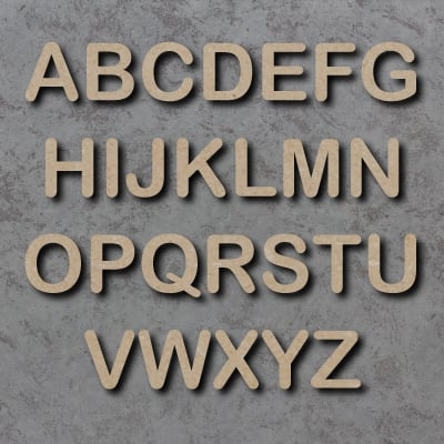 Arial Rounded Font Single mdf Letters