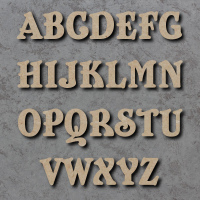 Belshaw Font Single mdf Wooden Letters  **PRICE PER LETTER**