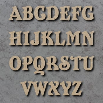 Belshaw Font Single mdf Wooden Letters  **PRICE PER LETTER**