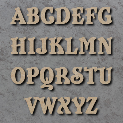 10cm sizes 2cm Numbers Wooden MDF Victorian Letters