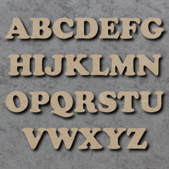 Cooper Font Single mdf Wooden Letters  **PRICE PER LETTER**