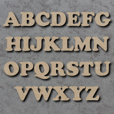 Cooper Font Single Wooden Letters