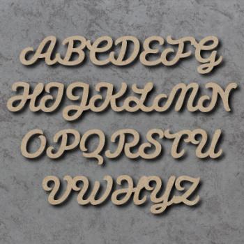 Script Font Single mdf Wooden Letters  **PRICE PER LETTER**